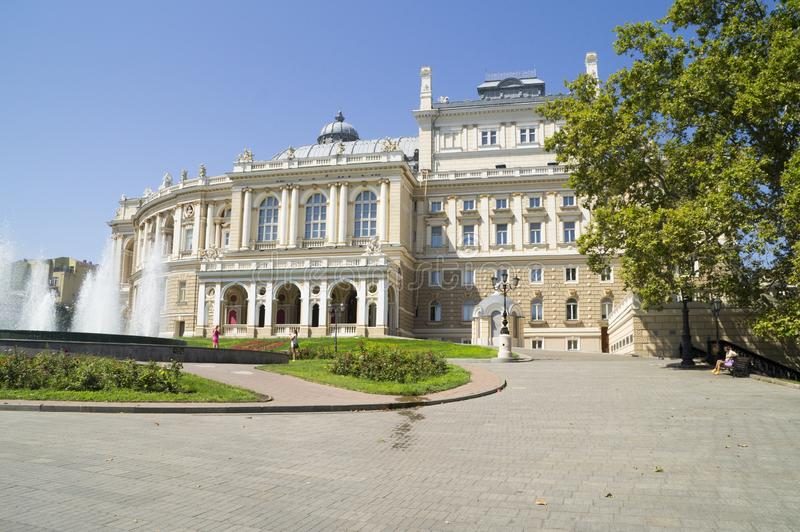 Opera e teatro de bailado em Odessa ucrânia imagem de stock royalty free