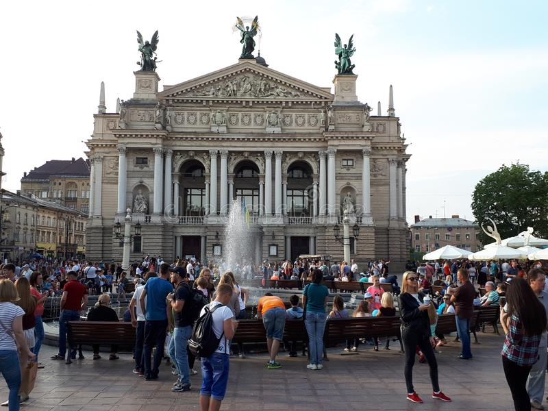 Opera em Lviv fotos de stock