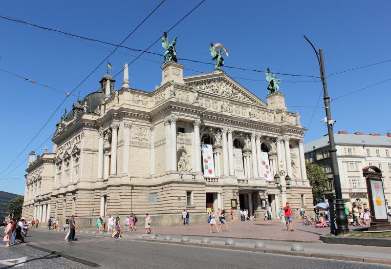 Opera en Ballet van Lviv royalty-vrije stock fotografie