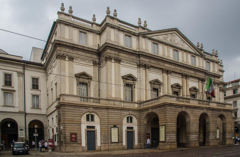 Opera famosa a Milano immagini stock libere da diritti
