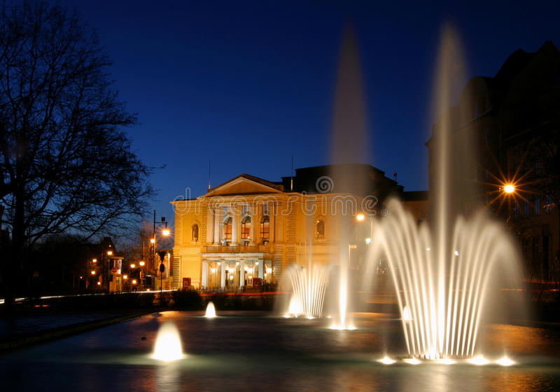 opera with fountain stock photo