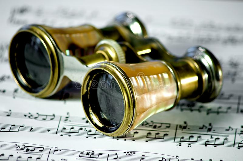 Opera glasses stock photo
