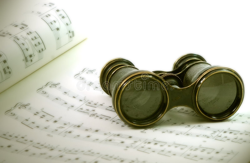 Opera glasses royalty free stock photos