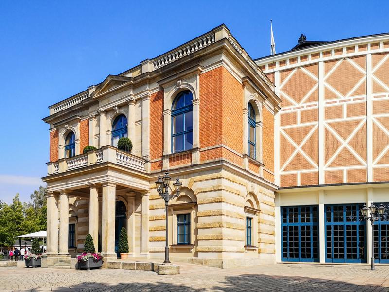 Opera house in Bayreuth stock photography