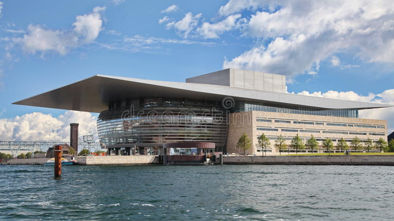 Opera house in Copenhagen royalty free stock photo