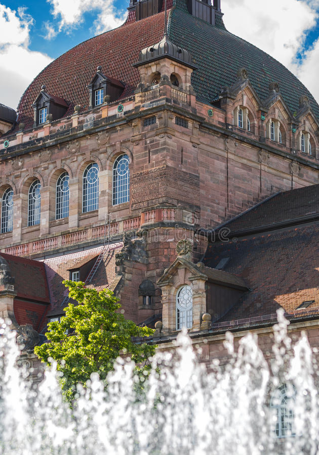 Opera House dome-Nuremberg, Germany stock images