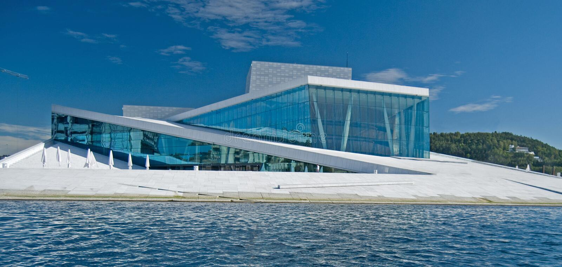 Opera house Oslo stock photography
