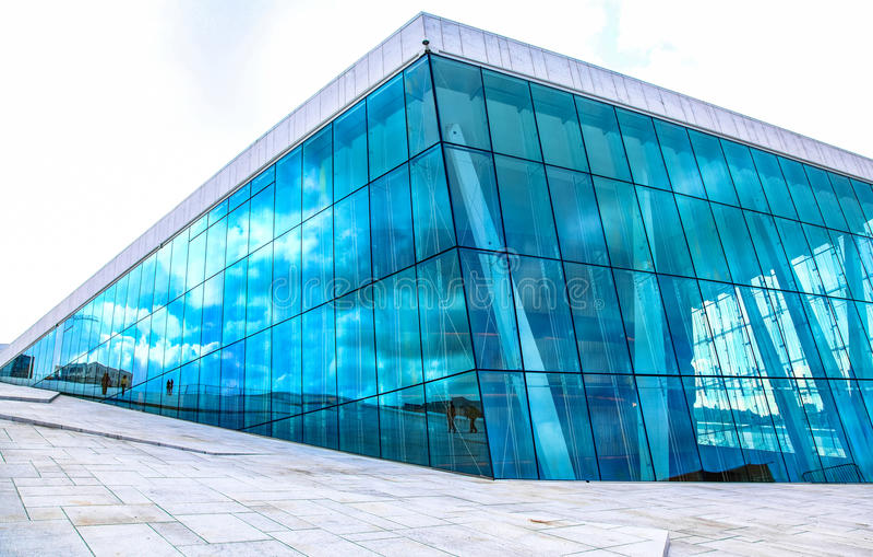 Opera house in Oslo, Norway stock photo