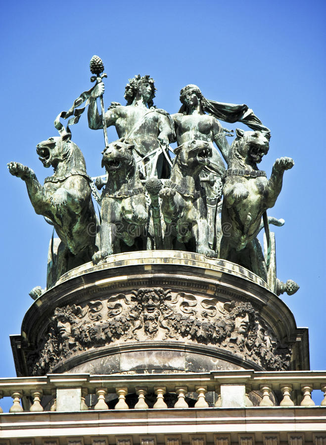 Download Opera House Statue In Dresden Stock Photo - Image: 11144044