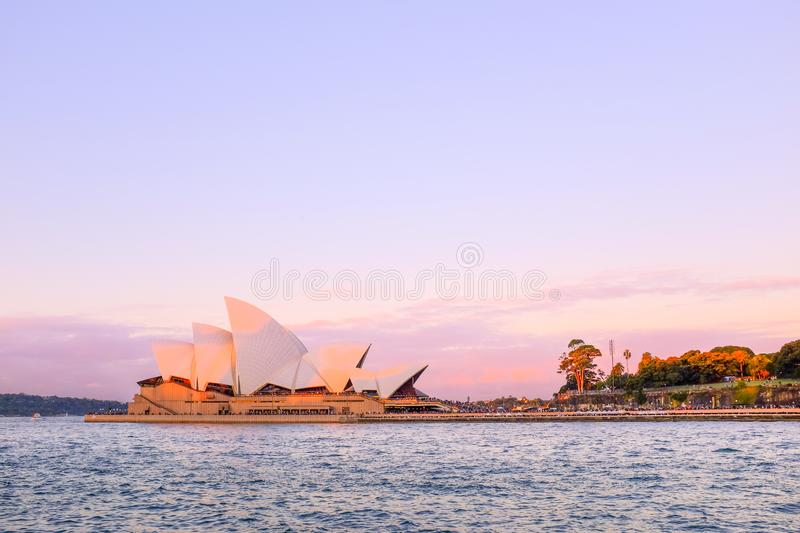 \'OPERA HOUSE, SYDNEY, AUSTRALIA - DECEMBER ,2016 : View of sydney opera house at sunset, Blue sky I. \'OPERA HOUSE, SYDNEY, AUSTRALIA - DECEMBER ,2016 : View of stock images