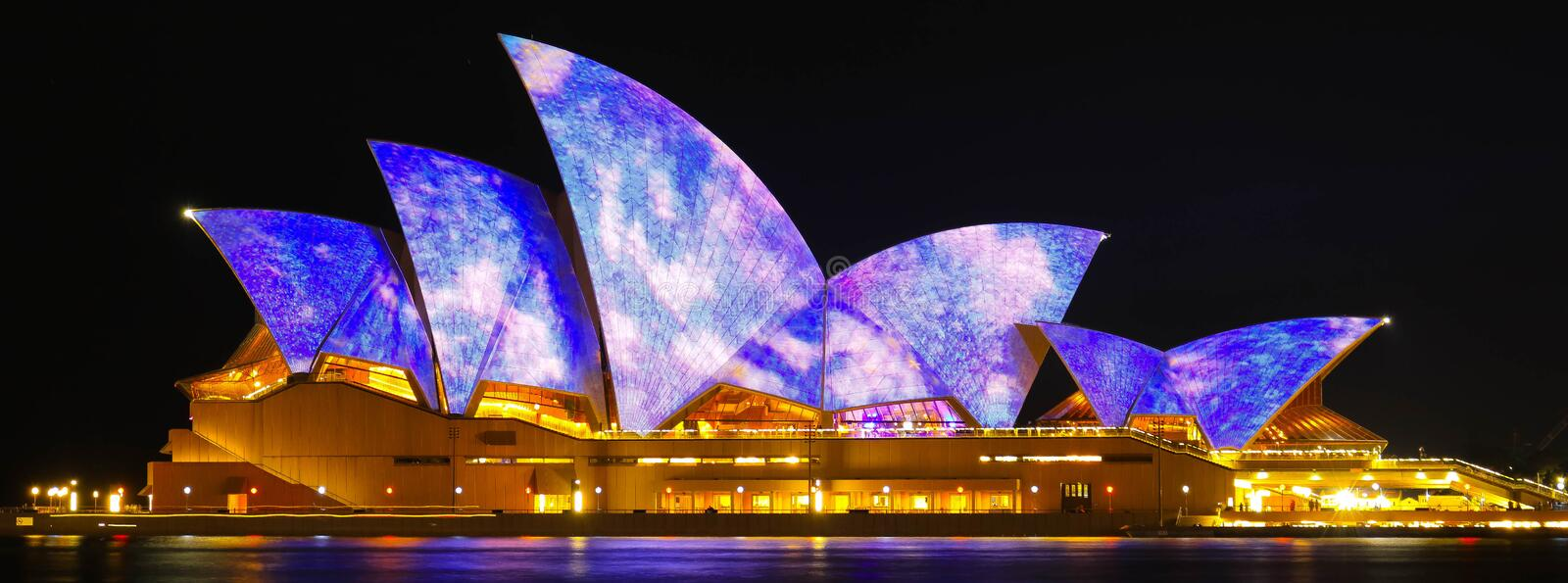 Opera House Vivid 2016 royalty free stock photos