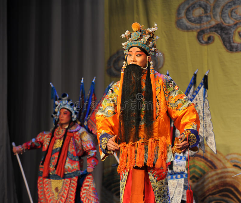 Opera laosheng-Peking: Chu Han-geschil royalty-vrije stock foto