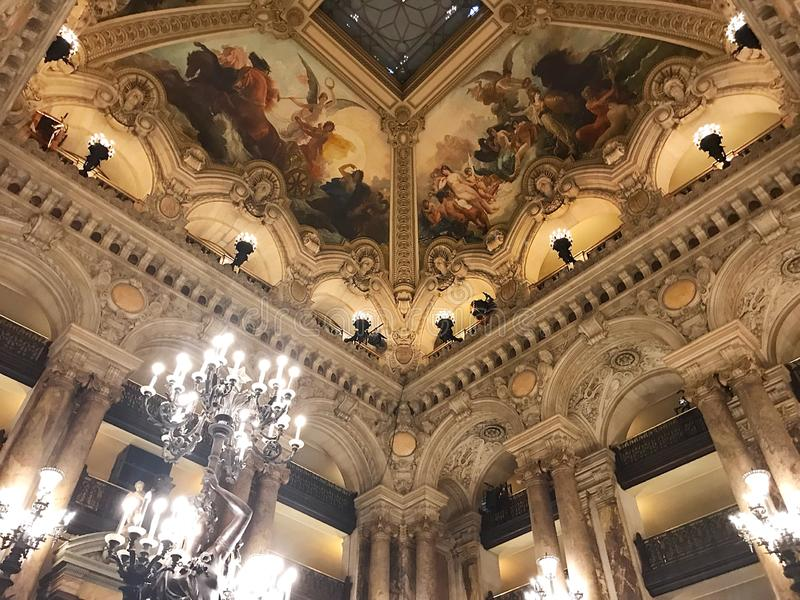 Opera mer granier Paris royaltyfri fotografi