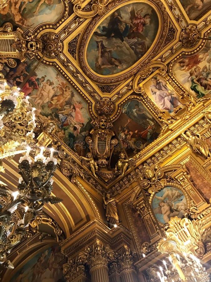 Opera mer granier Paris arkivfoton