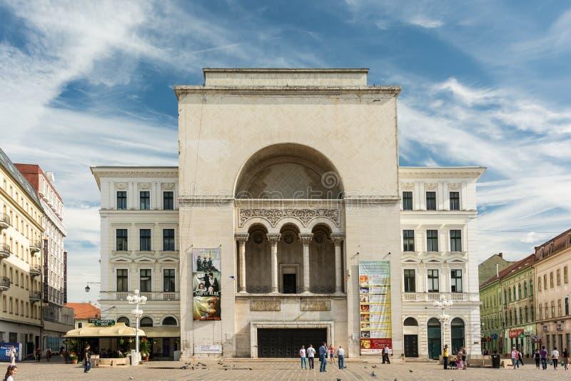 Opera nacional romeno em Timisoara imagem de stock
