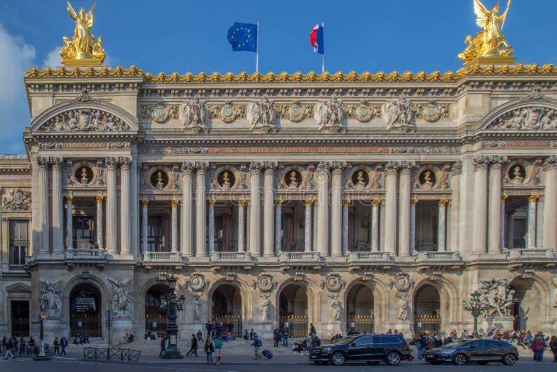 Opera obywatel de Paryż, frontowa fasada zdjęcia stock