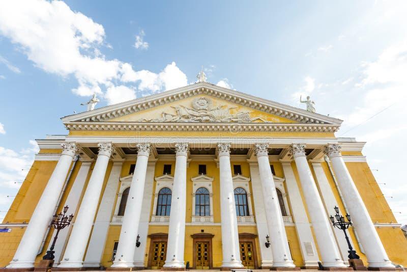 Opera- och balettteater som namnges efter Glinka i Chelyabinsk royaltyfria bilder
