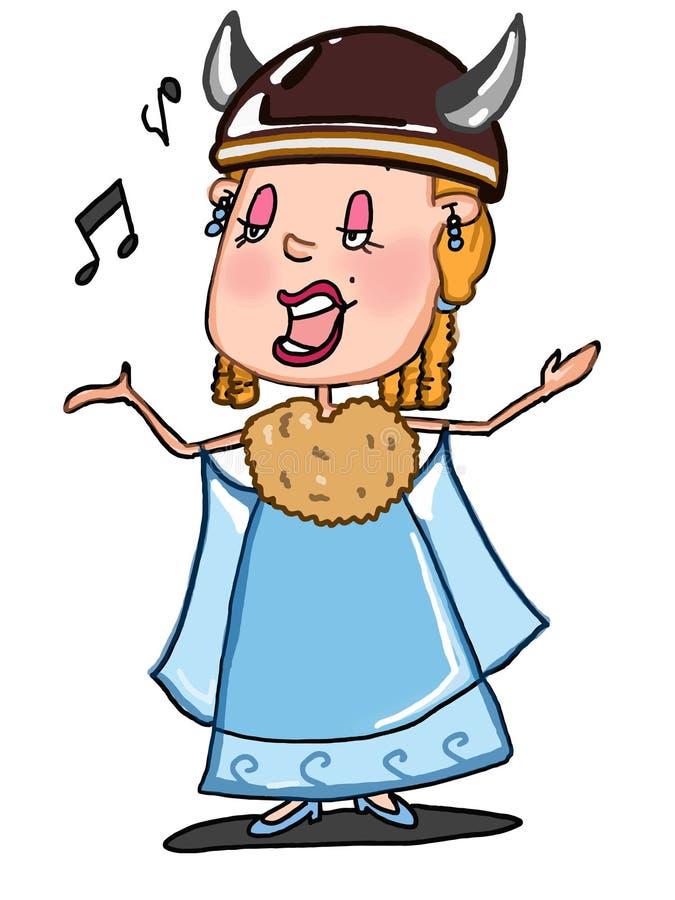 Opera piosenkarza ilustracyjna rysunkowa kreskówka i biały tło ilustracji