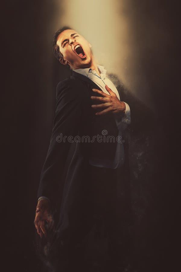 Opera piosenkarza spełnianie ilustracja wektor