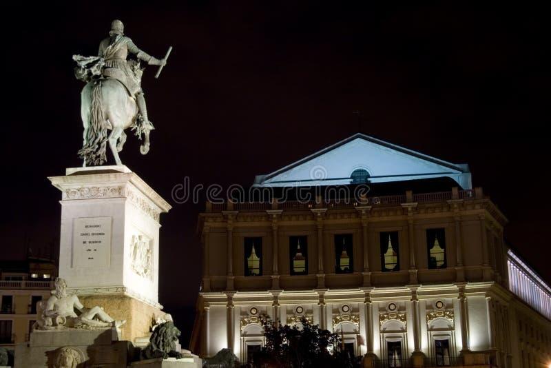 Opera and Plaza de Oriente royalty free stock photos