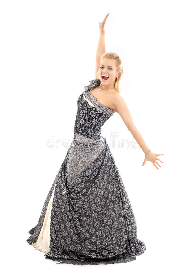 Opera singer stock photography