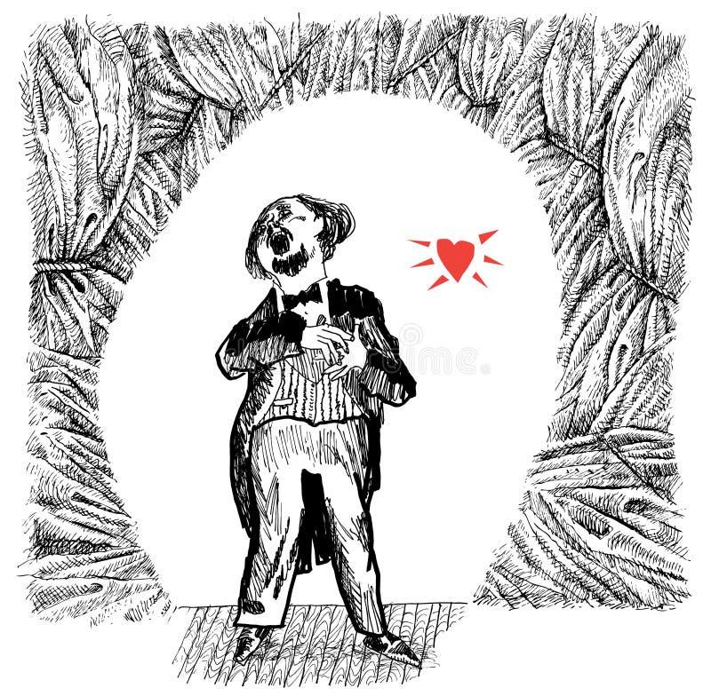 Opera singer (vector) royalty free illustration