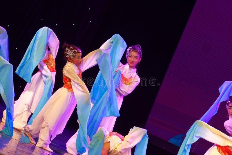 Opera sleeves dance- Beijing Dance Academy grading test outstanding children`s dance teaching achievement exhibition Jiangxi. Sponsored by the Beijing Dance stock photography