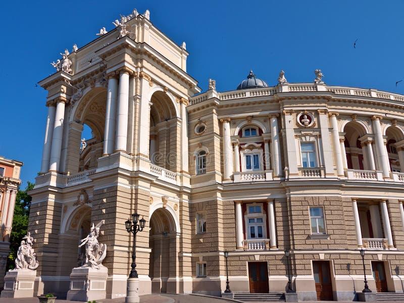 Opera theater in Odessa royalty free stock photos