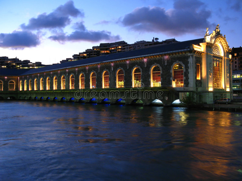 Opera on water, Geneva, Switzerland royalty free stock photo
