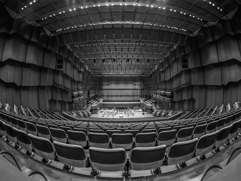 Opera. Wide angle of Frankfurt Opera royalty free stock image