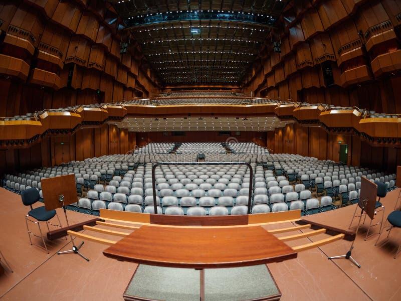 Opera. Wide angle photo of Frankfurt Opera stock image
