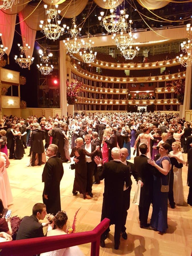 Operaball Wien 2017 royaltyfria foton
