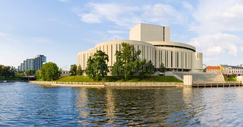 Operabyggnad i Bydgoszcz, Polen royaltyfri fotografi