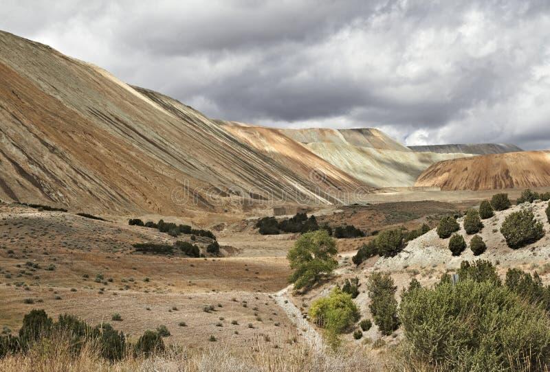 operación fuera de Salt Lake City, U del cobre, del oro y de la mina de plata foto de archivo libre de regalías