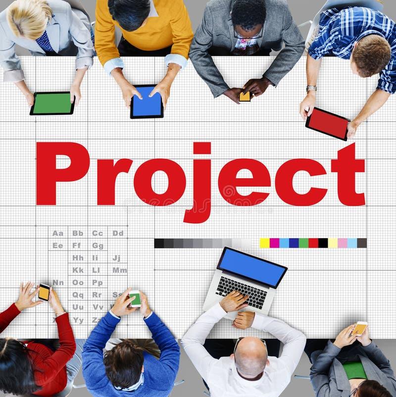 Operación Job Strategy Venture Task Concept del plan del proyecto fotos de archivo libres de regalías