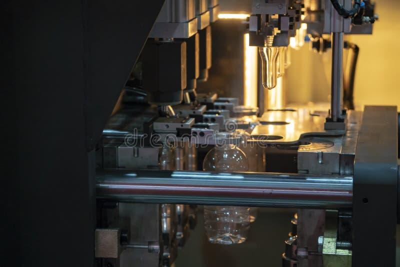 Operacja plastikowy butelki dmuchania proces obrazy stock
