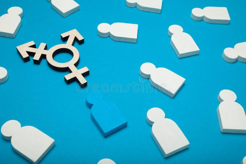 Operacji transgender, rodzaj przemiana Plciowy toleranci poj?cie fotografia stock
