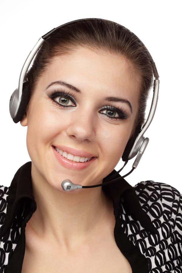 Operador alegre do serviço de atenção a o cliente fotos de stock royalty free