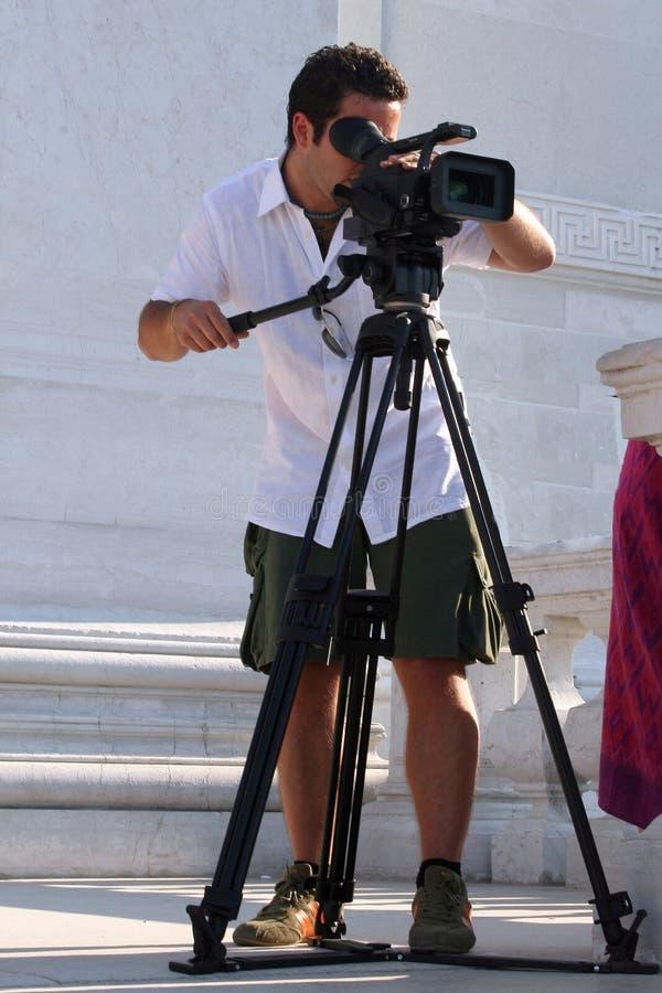 Operador cinematográfico imagem de stock