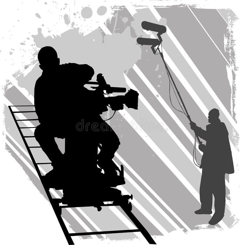 Operador cinematográfico ilustração stock