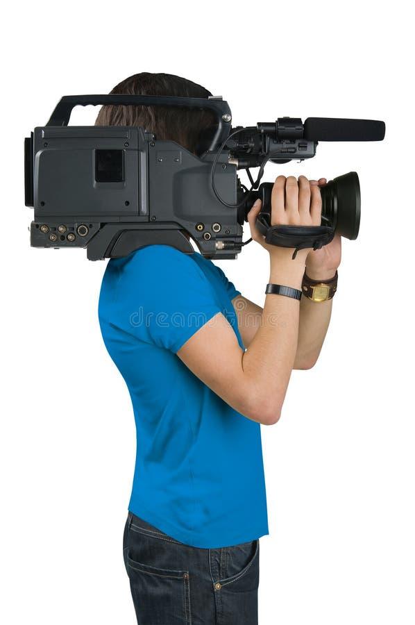 Operador cinematográfico. imagem de stock royalty free