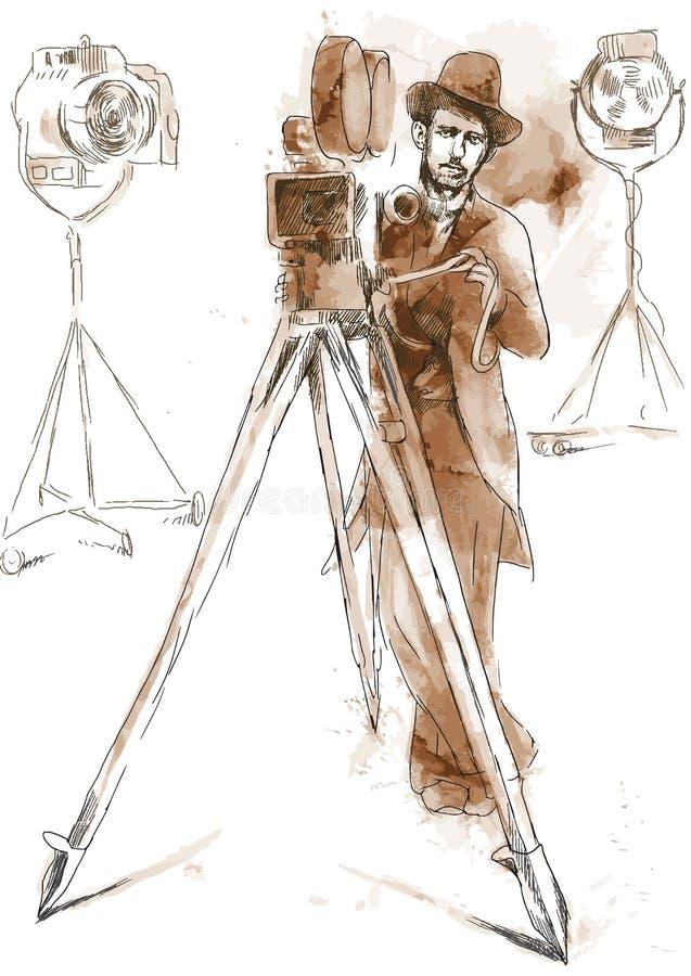 Operador cinematográfico ilustração royalty free