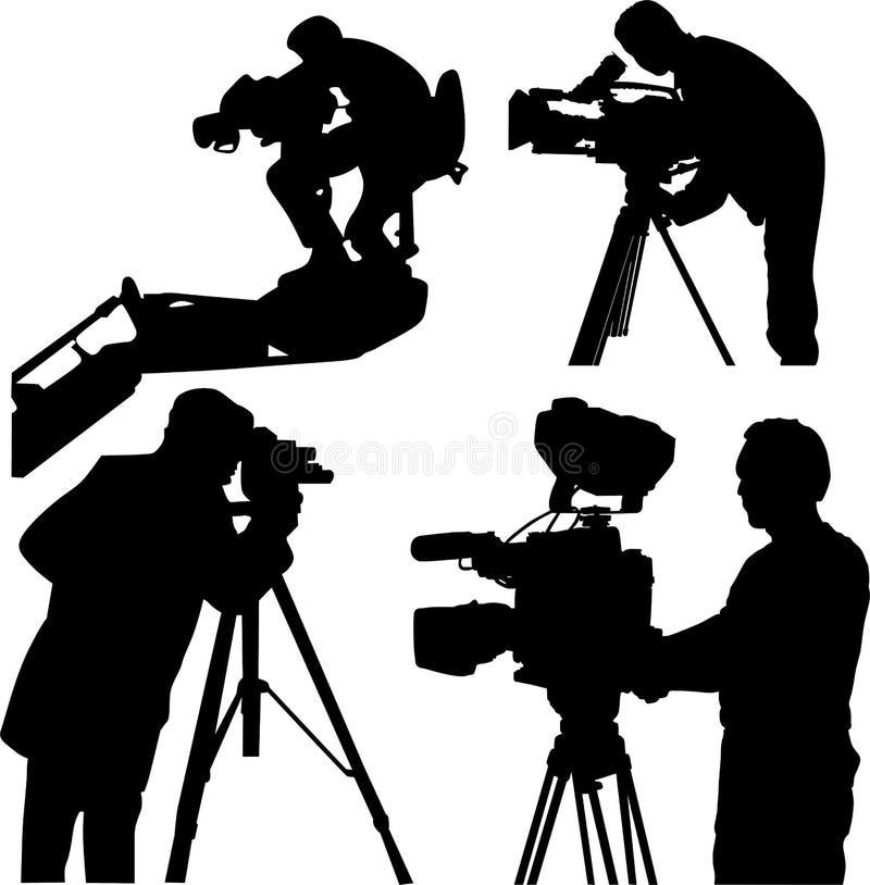 Operador cinematográfico ilustração do vetor