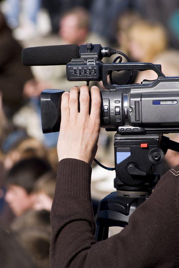 Operador com câmara de vídeo imagem de stock royalty free