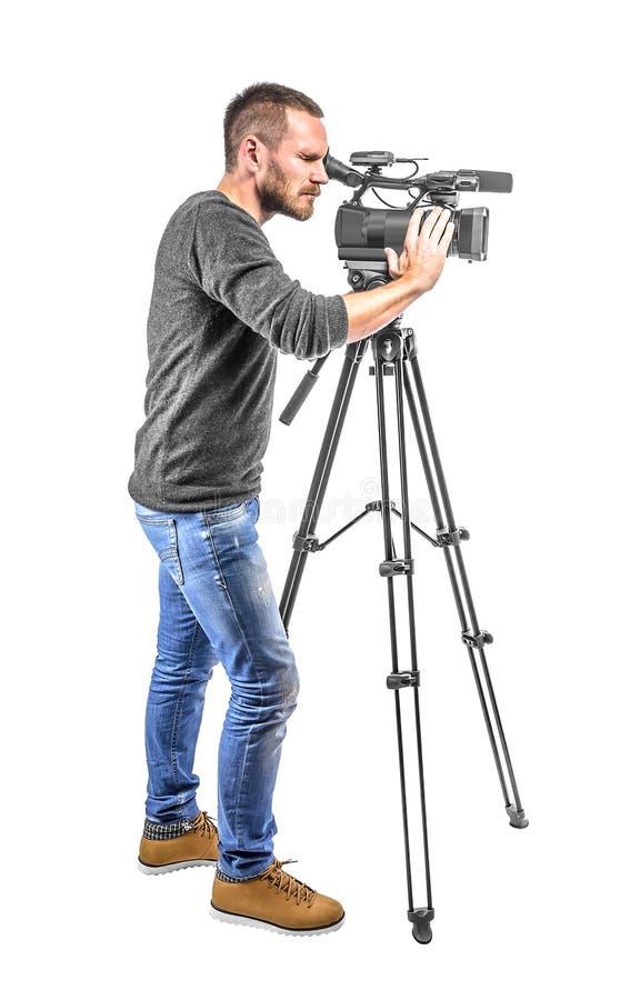 Operador da câmara de vídeo fotos de stock royalty free