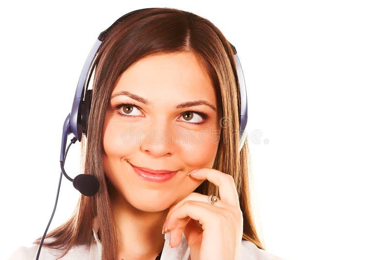 Operador da secretária/telefone imagem de stock royalty free