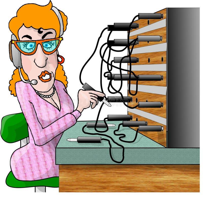 Operador de centralita telefónica libre illustration