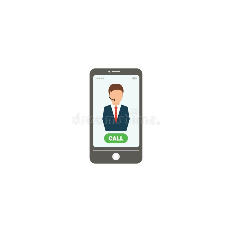 Operador de centro de atención telefónica, imagen del teléfono Ilustración del vector EPS 10 stock de ilustración