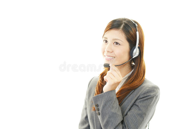 Operador de centro de atención telefónica foto de archivo libre de regalías