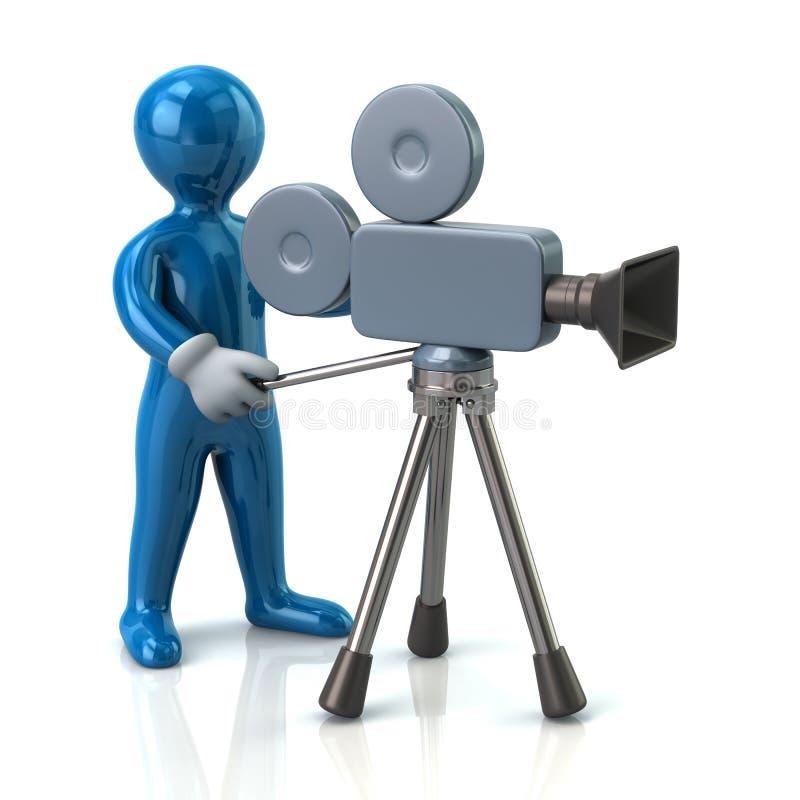 Operador de la cámara de vídeo ilustración del vector